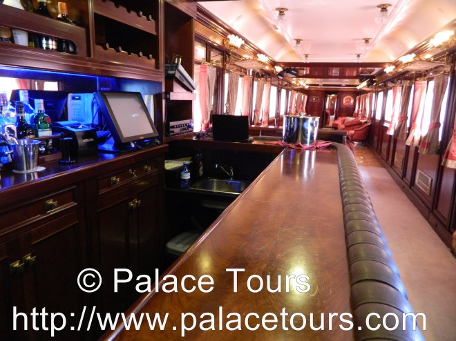 The Bar Car aboard the luxurious Al Andalus