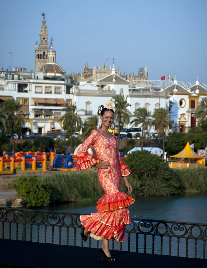 Traditional Flamenco dancer in Southern Spain (Seville)